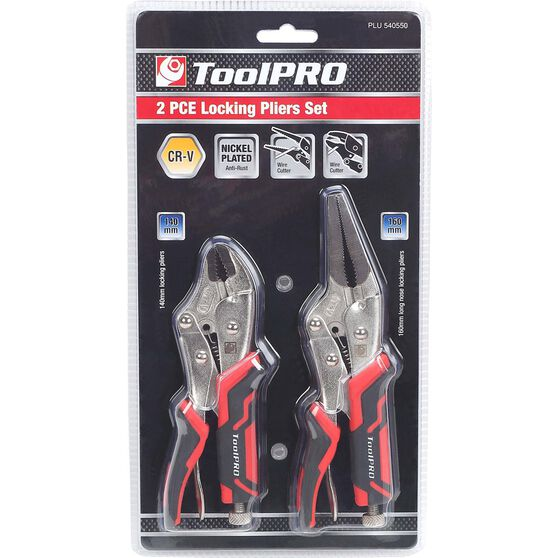 ToolPRO Medium Locking Plier Set - 2 Pieces, , scaau_hi-res