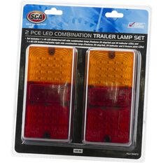 SCA Trailer Lamp - LED, Rectangle, Combination, 2 Pack, , scaau_hi-res