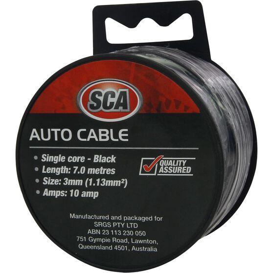 SCA Auto Cable - 10 AMP, 3mm, 7m, Black, , scaau_hi-res