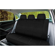 SCA Neoprene Seat Cover - Black Adjustable Headrests Rear Seat, , scaau_hi-res