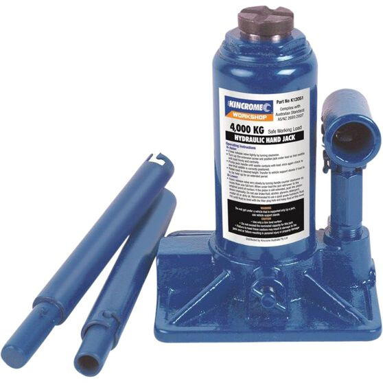 Kincrome Hydraulic Bottle Jack - 4000kg, , scaau_hi-res