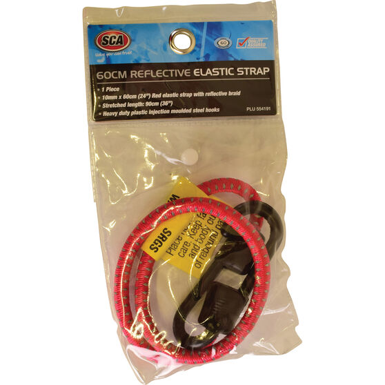 SCA Reflective Bungee Cord - 60cm, Red, , scaau_hi-res