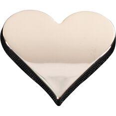 SCA 3D Chrome Badge Heart Emblem, , scaau_hi-res