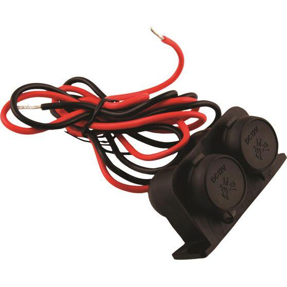 12/24V Dual Power Socket - Heavy Duty, , scaau_hi-res