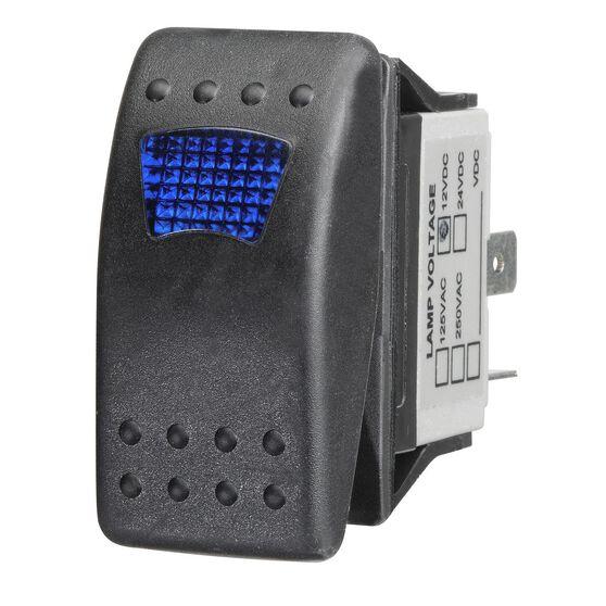 Ridge Ryder Sealed Rocker Switch - On / Off, Blue LED, , scaau_hi-res