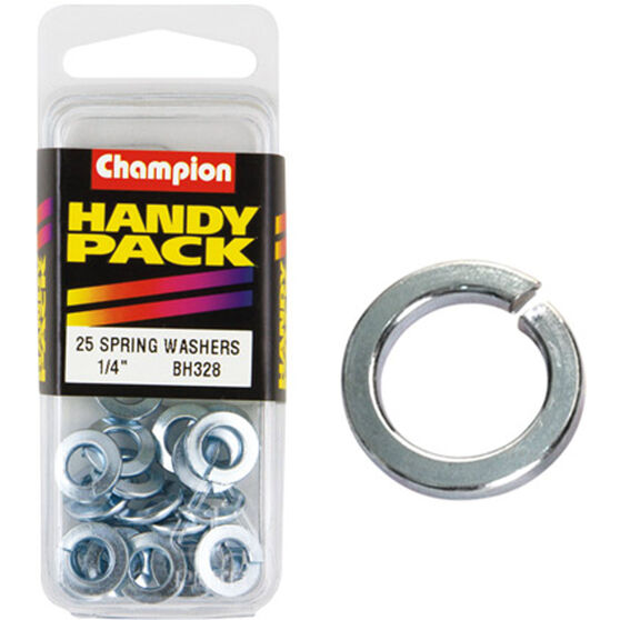 Champion Spring Washers - 1 / 4inch, BH328, Handy Pack, , scaau_hi-res