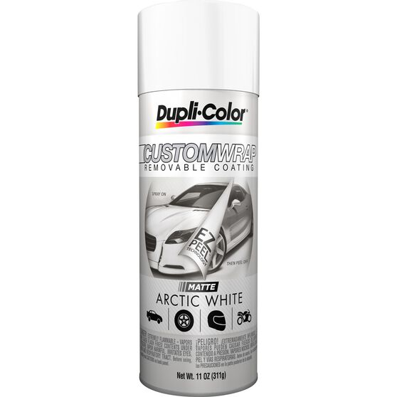 Dupli-Color Aerosol Paint Custom Wrap Matte Arctic White 311g, , scaau_hi-res
