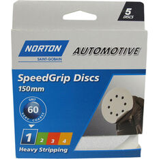 Norton Speed Grip Disc 60 Grit 150mm 5 Pack, , scaau_hi-res