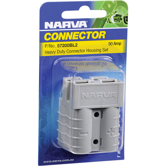 Narva 50Amp Connector With Copper Terminals - 50A Twin Pack, , scaau_hi-res