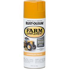 Rustoleum Aerosol Paint - Specialty Farm and Implement Enamel, Cat Yellow, , scaau_hi-res