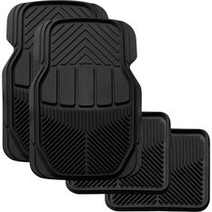 SCA All Season Car Floor Mats - Synthetic Rubber, Black, Set of 4, , scaau_hi-res
