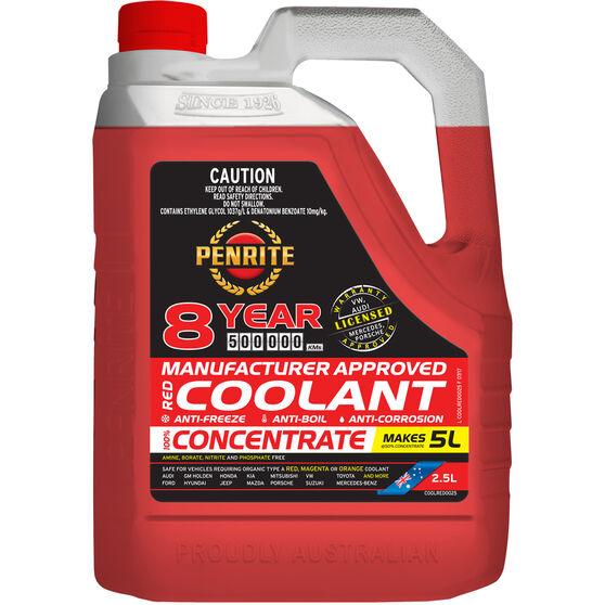 Penrite Red Long Life Anti Freeze / Anti Boil Concentrate Coolant - 2.5L, , scaau_hi-res
