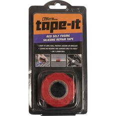 Calibre Tape-It  Self-Fusing Silicone Tape - Red, 3m x 25mm, , scaau_hi-res