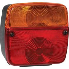 Narva Trailer Lamp - Square, Red / Amber, Combination, 12V, , scaau_hi-res