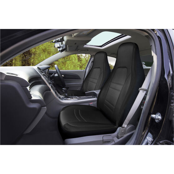 SCA Racing Seat Cover - Front Pair - Black / Grey, , scaau_hi-res