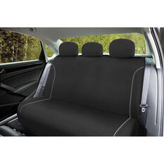 SCA Canvas Seat Covers - Black/Grey Adjustable Headrests Size 06H Rear Seat, , scaau_hi-res