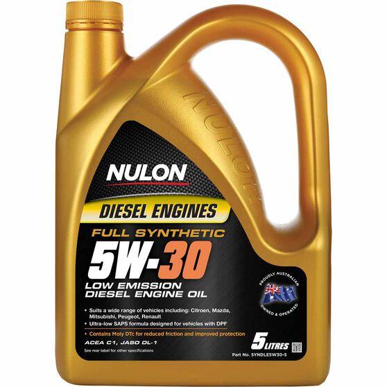 Nulon Low Emission Diesel Engine Oil - 5W-30 5 Litre, , scaau_hi-res