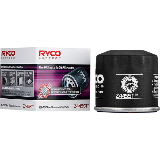 Ryco Syntec Oil Filter Z445ST (Interchangeable with Z445), , scaau_hi-res