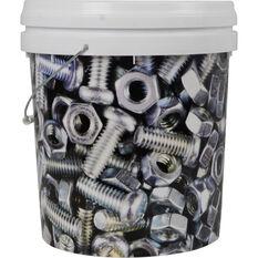 Designer Pail Bucket 'Nus & Bolts ' - 15L, , scaau_hi-res
