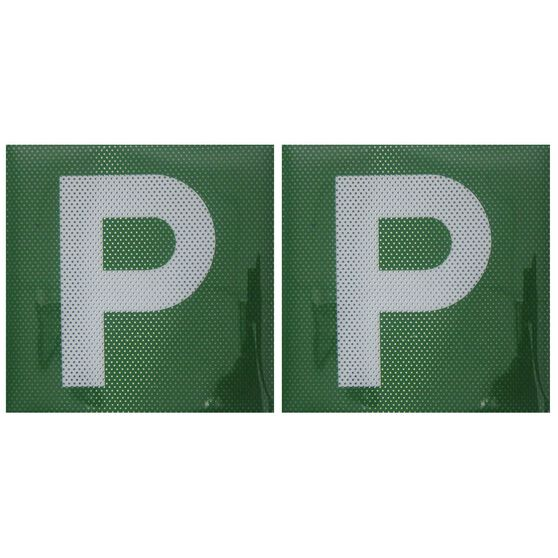SCA P Plate - Clear Vision, Green, VIC and WA, 2 Pack, , scaau_hi-res