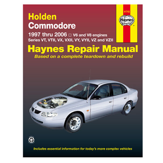 Haynes Car Manual For Holden Commodore 1997-2006 - 41743, , scaau_hi-res