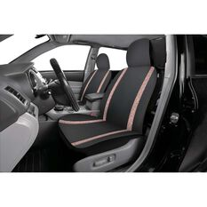 Sequin Seat Covers - Rose Gold and Black, Adjustable Headrests, , scaau_hi-res
