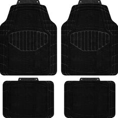 SCA Car Floor Mats - Carpet, Black, Set of 4, , scaau_hi-res