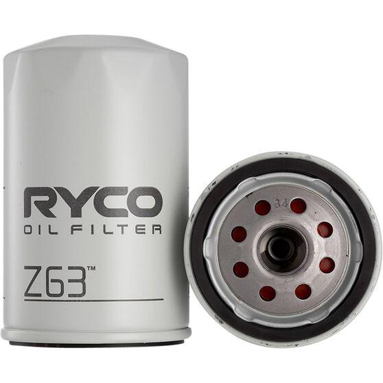 Ryco Oil Filter - Z63, , scaau_hi-res