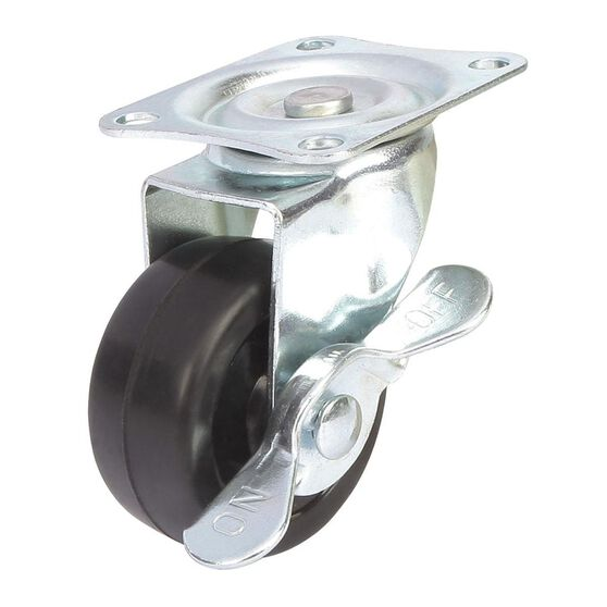 SCA Caster Wheel - 50 x 22mm, Metal Brake, Swivel, , scaau_hi-res