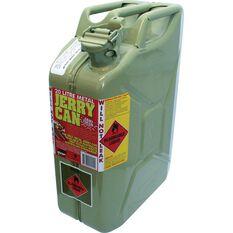 Metal Jerry Can - Diesel, 20 Litre, Green Metal, , scaau_hi-res