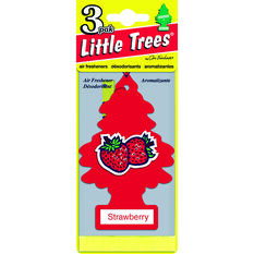 Little Trees Air Freshener - Strawberry, 3 Pack, , scaau_hi-res