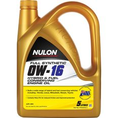 Nulon Hybrid and Fuel Conserving Engine Oil - 0W-16 5 Litre, , scaau_hi-res