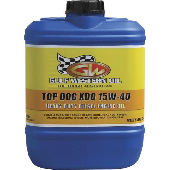 Gulf Western Top Dog XDO Engine Oil 15W-40 10 Litre, , scaau_hi-res