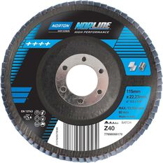 Norton Flap Disc 40 Grit 115mm, , scaau_hi-res