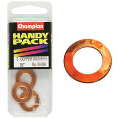 Champion Copper Washers - 3 / 8inch, BH069, Handy Pack, , scaau_hi-res