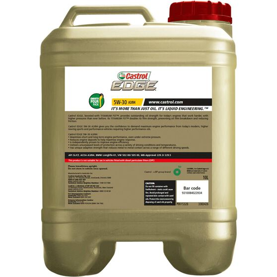 Castrol Edge Engine Oil - 5W-30 10 Litre, , scaau_hi-res