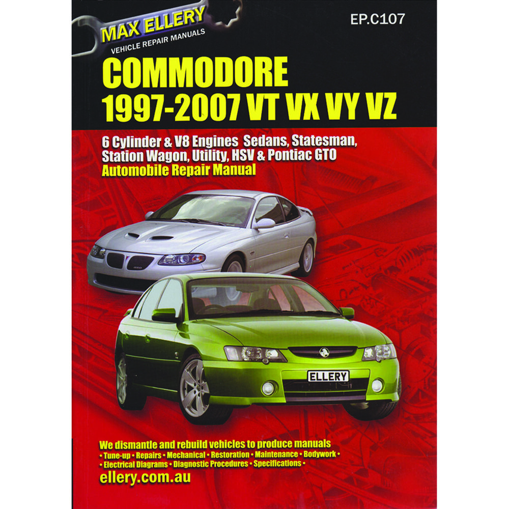 2002 Holden Commodore Car Valuation: Max Ellery Car Manual For Holden Commodore 1997-2004