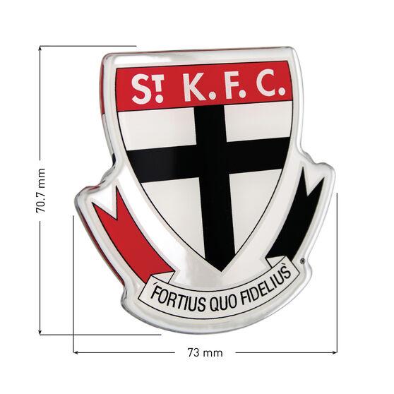 St Kilda AFL Supporter Logo - Lensed Chrome Finish, , scaau_hi-res