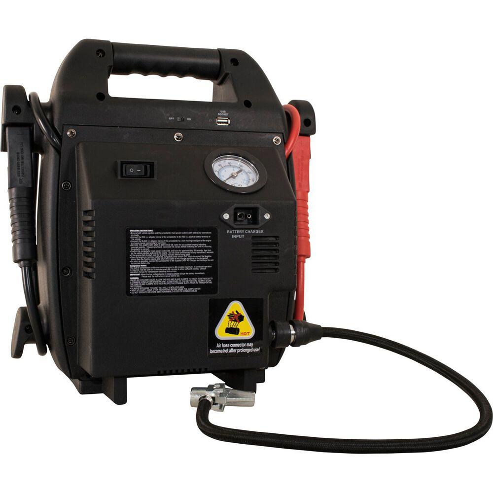 Sca 12v Jump Starter W Air Compressor 6 Cylinder 1100