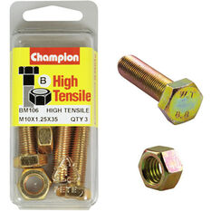 Champion High Tensile Bolts and Nuts - M10 X 35, , scaau_hi-res