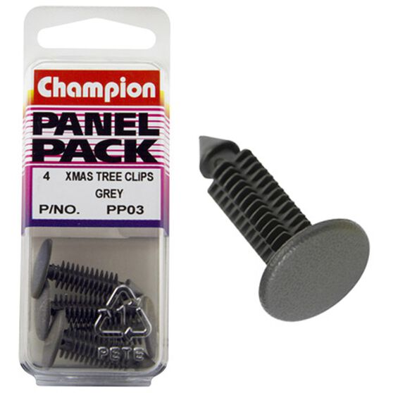 Champion Xmas Tree Clips - PP03, Grey, Panel Pack, , scaau_hi-res