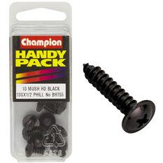 Champion Mush Head Screws - 10G X 1 / 2inch, BH755, Handy Pack, , scaau_hi-res