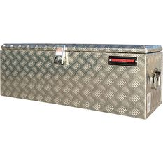 Tool Box - Aluminium Checkerplate, 114 Litre, , scaau_hi-res