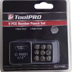 ToolPRO Number Punch Set - 6mm, , scaau_hi-res