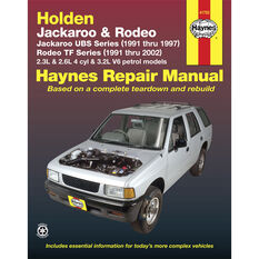 Haynes Car Manual For Holden Jackaroo / Rodeo 1991-2002 - 41753, , scaau_hi-res