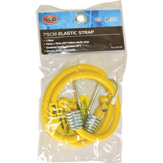 SCA Metal Hook Bungee Cord - 75cm Yellow, , scaau_hi-res
