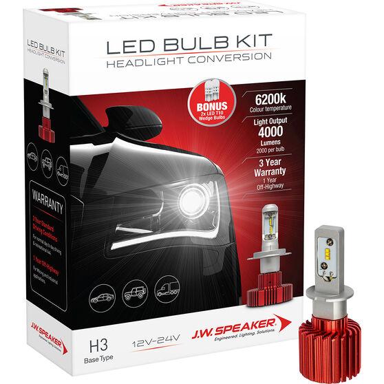 J.W. Speaker Headlight Conversion Kit - LED H3, , scaau_hi-res