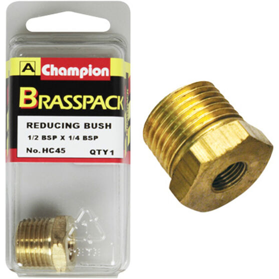 Champion Hex Reducing Bush - 1 / 2-1 / 4inch, Brass, , scaau_hi-res