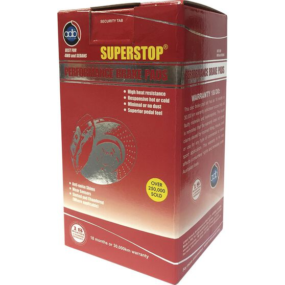 ADB SuperStop Disc Brake Pads - DB1763SS, , scaau_hi-res