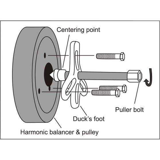 ToolPRO Harmonic Balancer Puller Kit 13 Piece, , scaau_hi-res